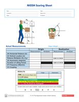 NIOSH Scoring Sheet_2013_NIOSH Scoring Sheet.qxd